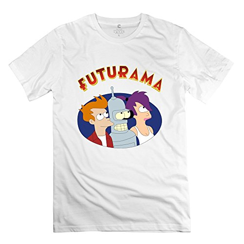 Man Futurama Logo Custom Cool White T-Shirts By Mjensen (Futurama Season 9 compare prices)