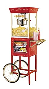 "Nostalgia Electrics CCP610 Vintage Collection 8-Ounce 59"" Popcorn & Concession Cart"