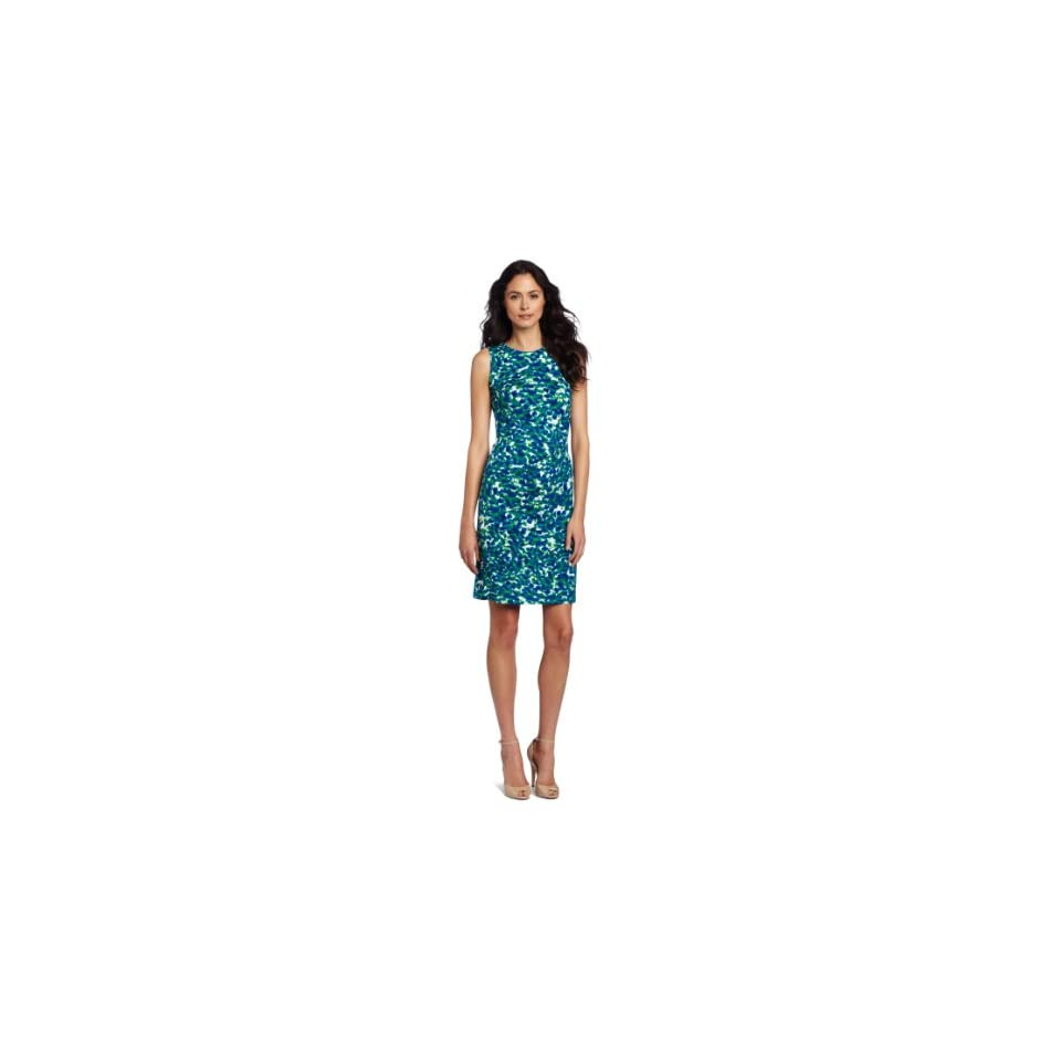 AK Anne Klein Womens Petal Abstract Print Dress