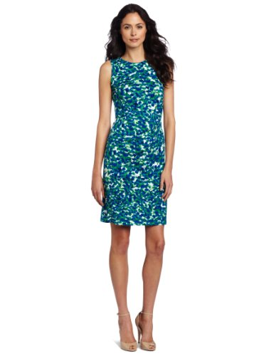 AK Anne Klein Women's Petal Abstract Print Dress