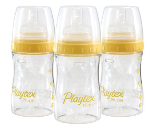 Playtex 4 Ounce Drop-In Nurser 3-Pack - Daffodil front-995853