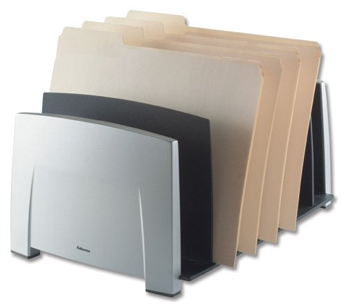 Fellowes Office Suite Document File Sorter includes 7 Sorter Slots Black and Grey Ref 8031801