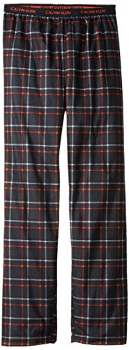 Calvin Klein Big Boys' Ck Plaid Pajama Pant, Anthracite, 14/16 front-954735