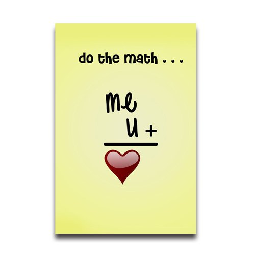 do-the-math-of-love-funny-poster-20x30-inch-wall-sticker-home-room-school-use