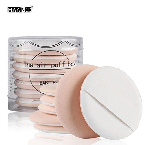 Bigban Womens Girls Simple Makeup Puff Facial Face Makeup Cosmetic Powder Puff (Beige)