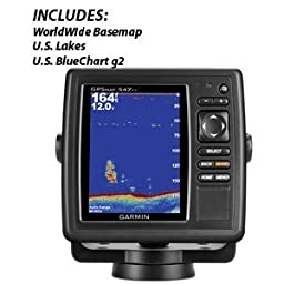 GARMIN GPSMAP 547XS W/O XDUCER U.S.LAKES & U.S. BLUECHART G2 \