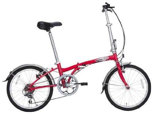 yeah(ヤー) トリップ HAT060Y 20インチ ハイテンフレーム 折りたたみ自転車 6段変速 レッド R012