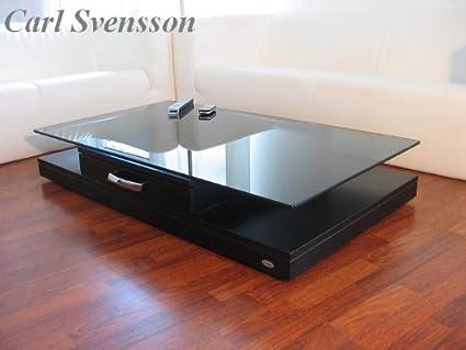 DESIGN COUCHTISCH Tisch V-470 schwarz getöntes Glas Carl Svensson