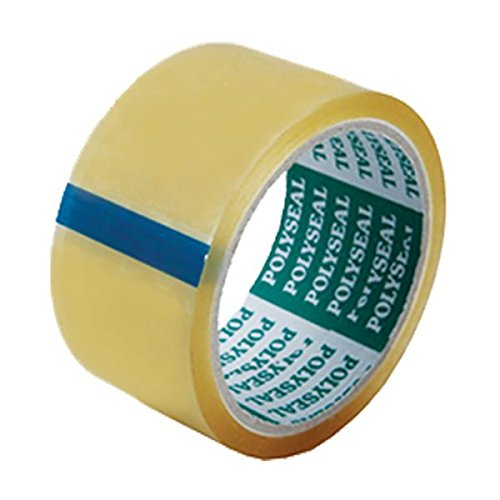 OPP RUBBER SOLVENT PACKAGING TAPE HEAVY DUTY SEALING CARTONS, 3 Inch x 45Yards ,transparent, 2pcs (King Kraft Spatula compare prices)
