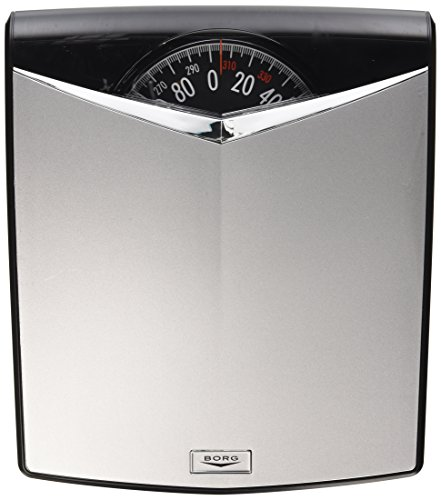 Borg High-Accuracy Modern Dial Scale, Silver (Scale Dial Bathroom compare prices)
