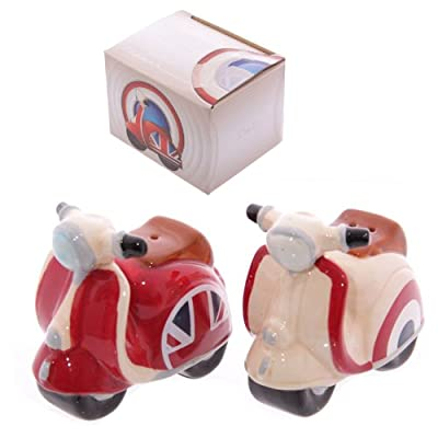 Union Jack and Roundel Retro Scooter Salt and Pepper Set by Puckator