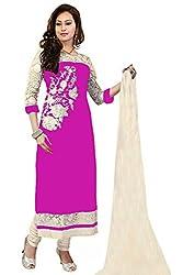 women's pink Georgette Dress materials