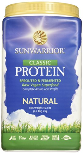 Sunwarrior - Classic Protein, Raw Wholegrain Brown Rice, Natural, 47 Servings (2.2 lbs) (FFP) (Sunwarrior Protein Natural compare prices)