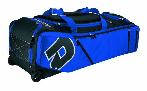 DeMarini IDP(Insane Dedication to Performance) Player's Bag on with Extra Large Wheels, Black/Royal