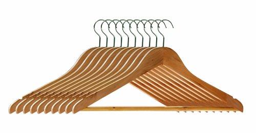 Premier Housewares Wooden Clothes Hangers - Pack of 10