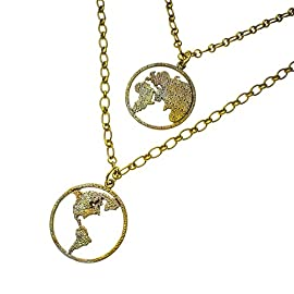 Peace on Earth Double Hemisphere Necklace