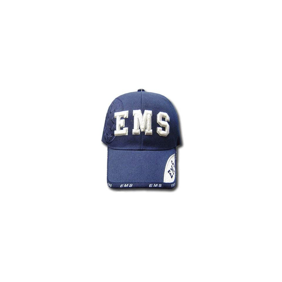 NAVY BLUE EMS EMERGENCY MEDICAL SERVICE CAP HAT DELUXE