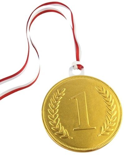 100mm Gold chocolate medal