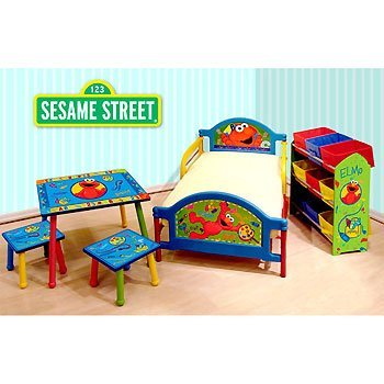 Elmo Toddler Bed Elmo Room In A Box Furniture Set For