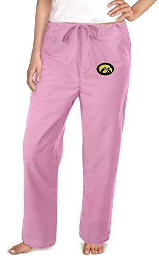 Iowa Hawkeyes Pink Scrubs Pants