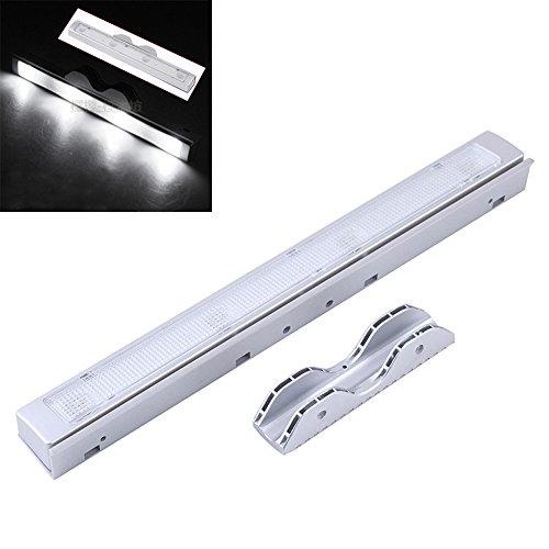 Citiger(TM) Vibration Shaking Sensor Light, Automatic Shaking Induction, 4 LED, Battery Operated, Stick-on, for Home Drawer, Cabinet, Wardrobe, Closet (White)