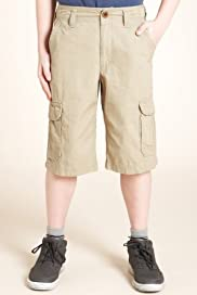 Pure Cotton Adjustable Waist Cargo Shorts [T87-5319M-S]