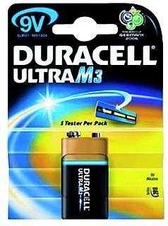 """Pile dURACELL 9 v type """" ultraM3 """" 6LR61 9 v"""
