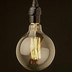 KINGSO E27 40W Edison Lampe Klassiker Super Globe Cage Glühbirne handgewickelt Nostalgie Retro G80 Stil Beleuchtung Stil Dekorative Birne Industrie 220V