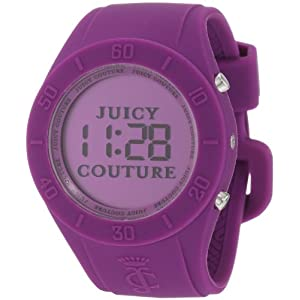 Juicy Couture Women's 1900882 Sport Couture Digital Purple Jelly Strap Watch