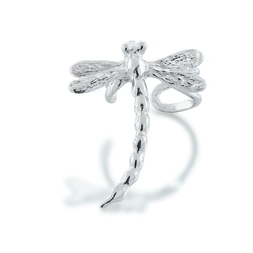 Bling Jewelry Dragonfly Ear Cuff Left Ear 925 Sterling Silver