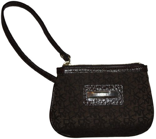 DKNY DKNY Wristlet Slgs Town and Country Classics Brown/Dark Brown