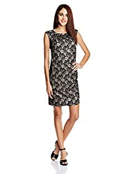 Avirate Women's Cocktail Dress (AVDR102101_Black and Nude_10)
