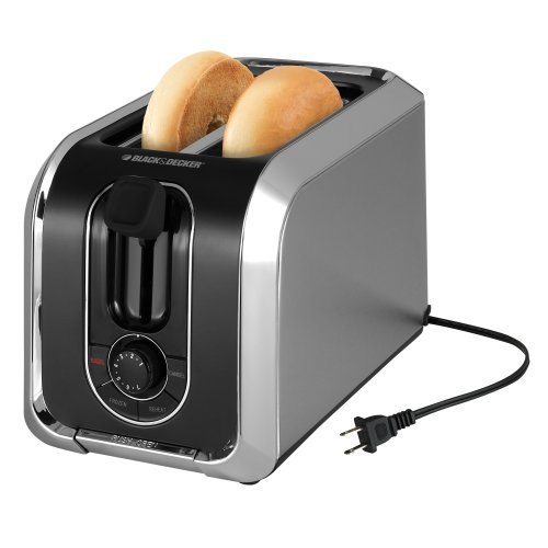 Cheap Black & Decker TR1200SB 2-Slice Stainless Steel Toaster with Retractable Cord, Silver