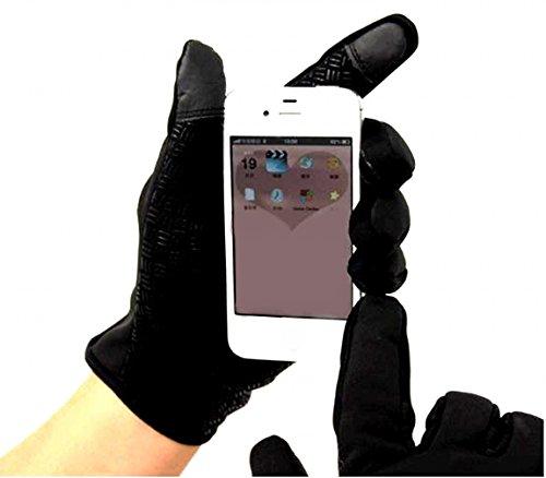 【Hi-Hi-World】 冬を乗り切れ スマホ 対応 防風 撥水 グローブ 手袋 黒 ブラック 自転車 バイク 通勤に (3.L 手の周り21-22cm)