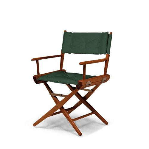 Telescope Casual World Famous Dining Height Director Chair, Walnut Finish With Forest Green Cover