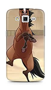 Amez designer printed 3d premium high quality back case cover for Samsung Galaxy Grand 2 G7102 (funny horse pun gannam style)