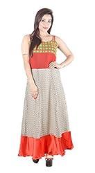 Fabrizia Women's Georgette Dress (FWLD-02_Multi-Coloured_Small)