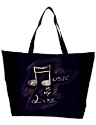 Snoogg Music Is My Life Waterproof Bag Made Of High Strength Nylon