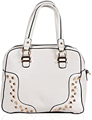 Abassi Women White Pu Handbag-9129