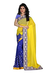 Gokul Vastra Saree (Pack of 6) (P-KT-3095_6_Yellow Blue)