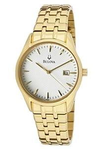 Bulova - Reloj de pulsera hombre, color dorado