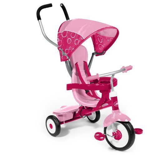 Removable Wrap Around Tray For Safety - Radio Flyer 4-in-1 Trike, Pink (Radio Flyer Pink 4 In 1 Trike compare prices)