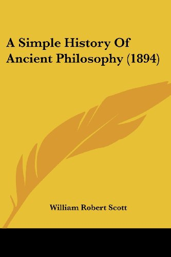 A Simple History of Ancient Philosophy (1894)