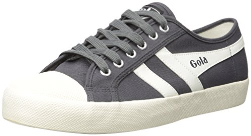 Gola Men's Coaster Fashion Sneaker, Graphite/Off White, 10 UK/11 M US