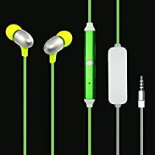 buy Dc 3.5 Mm Led Light Up Visible Glowing In-Ear Earphones Headphone Universal Microphone Green