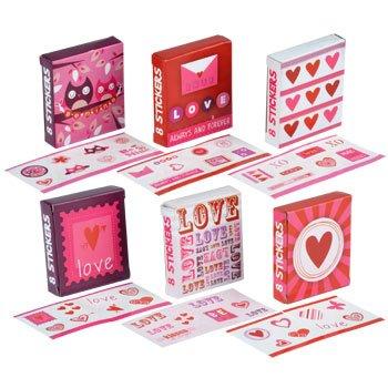 36 Packs Valentine's Day Sticker Mini Gift Boxes - 1