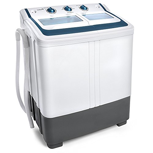 Ivation Small Compact Portable Washing Machine Twin Tub