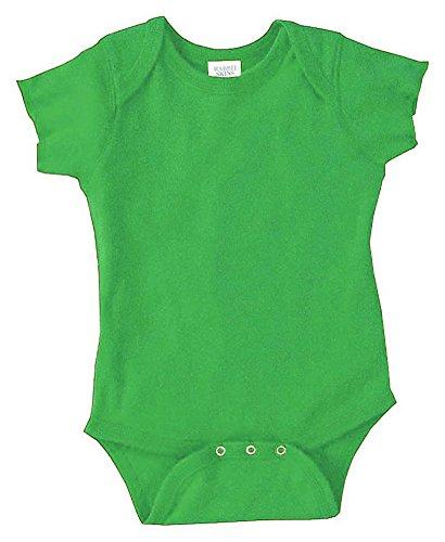 Rabbit Skins Infants'5 oz. Baby Rib Lap Shoulder Bodysuit, 18MOS, APPLE