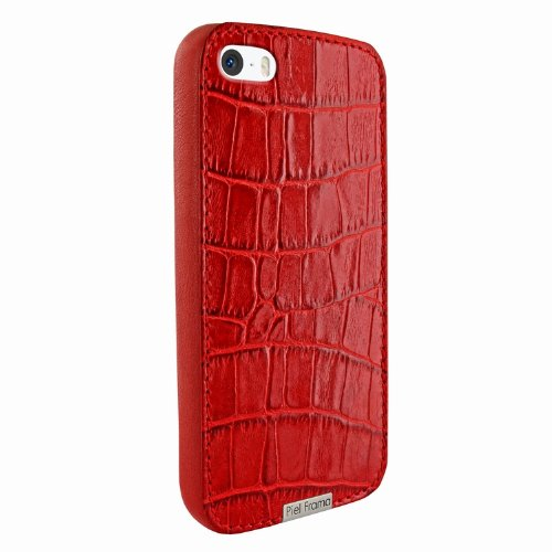 Great Sale Apple iPhone 5 / 5S Piel Frama Red Crocodile FramaGrip Leather Cover