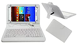 Acm Premium Usb Keyboard Tablet Case Holder Cover For Byond P3 With Free Micro Usb Otg - White